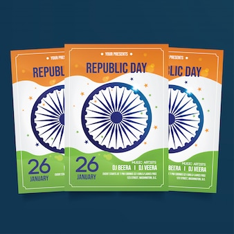 India republic day flyer template