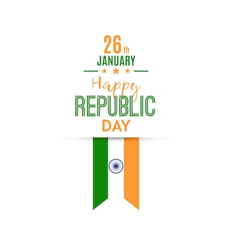 India republic day  greeting card.
