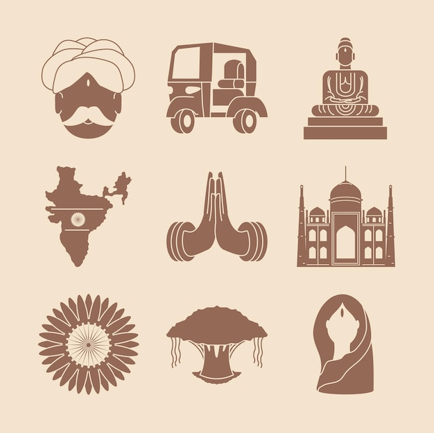 India temples and map