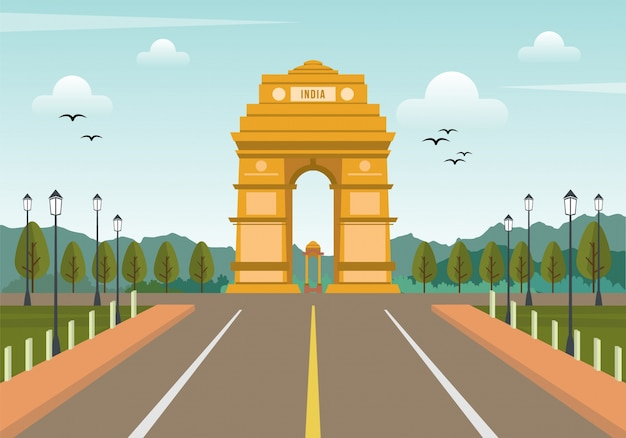 India triumphal arch background