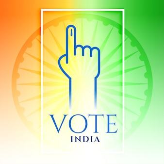 India vote hand with tricolor