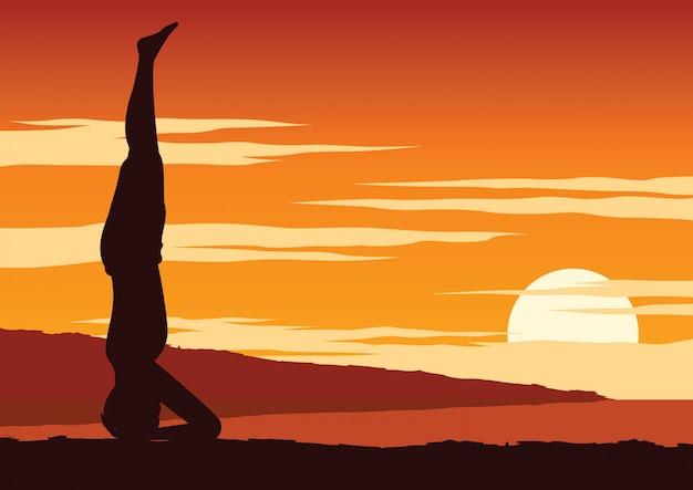 India yogi perform yoga