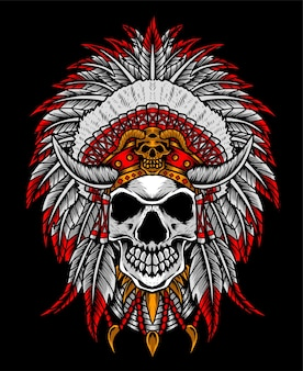 Indian apache skull head