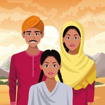Indian asian oriental culture cartoon