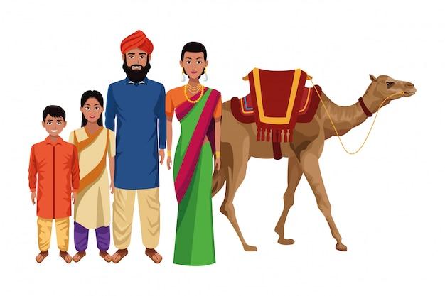 インドのアジア東洋文化漫画