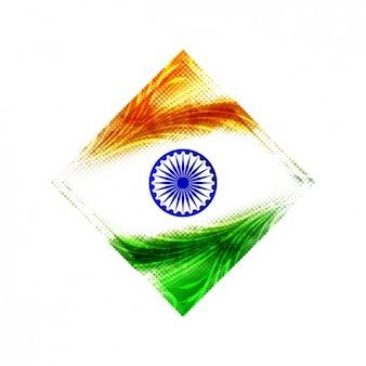 사각형으로 인도 배경