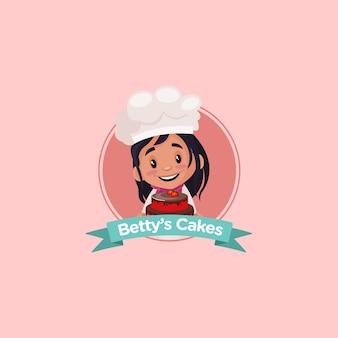 인도 베티스 케이크 마스코트 로고 디자인