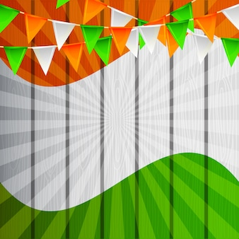 Indian blank frame card independence day