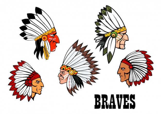 Indian brave chief set