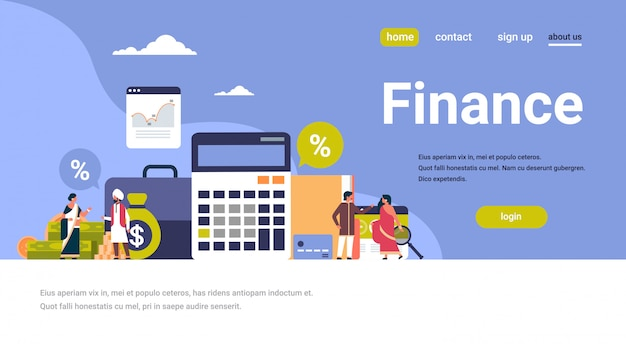 Indian business people finance banner