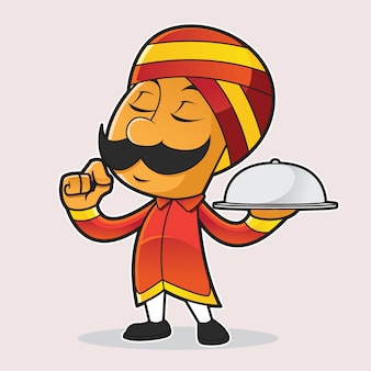 Indian chef mascot