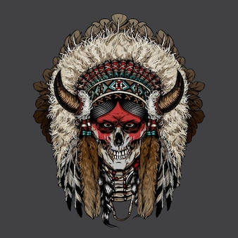 Indian Skull Chief Vectors, Photos and PSD files | Free Download