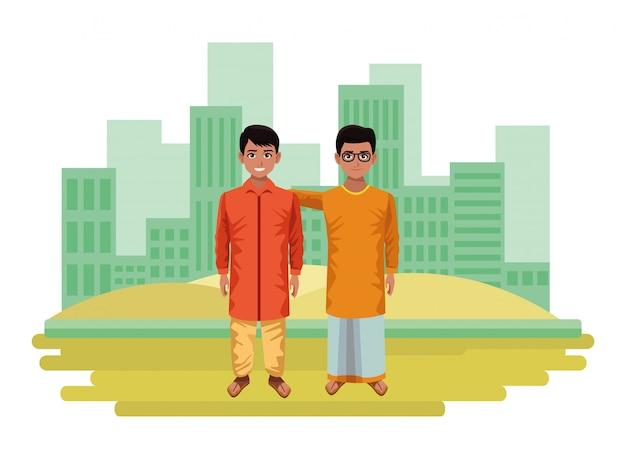Indian children avatar cartoon character