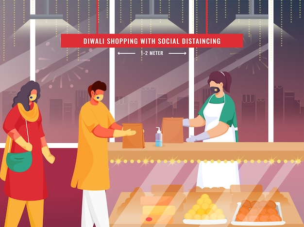 안전 조치를 취하는 인도 소비자
