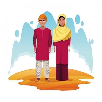 インド漫画のインドのカップル