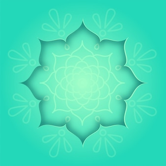 Indian design card with green rangoli and mandala pattern concept