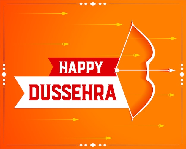 Indian dussehra festival decorative wishes card
