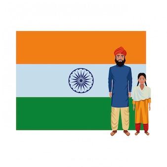 Indian family avatar cartoon character