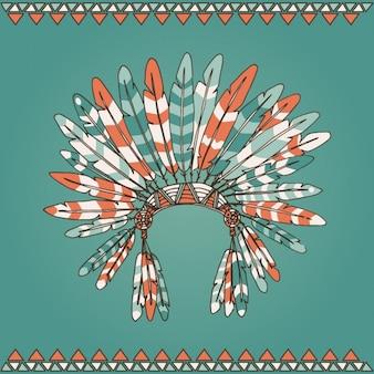 Disegno piume indiane