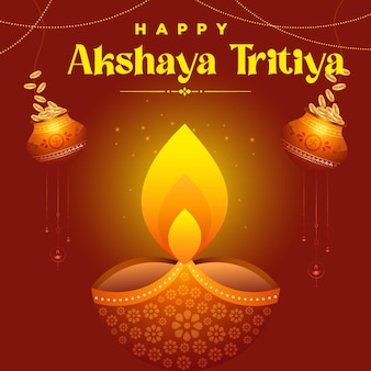 Indian festival happy akshaya tritiya template design