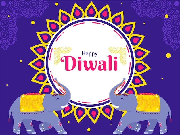 Индийский фестиваль счастливый дивали концепция иллюстрация