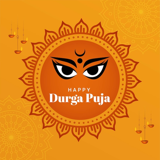 Indian festival happy durga puja banner template