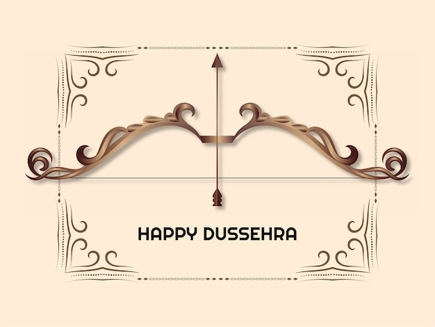 Indian festival happy dussehra greeting background vector