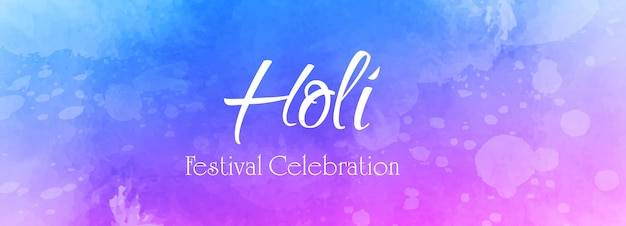 Indian festival happy holi celebration banner vector