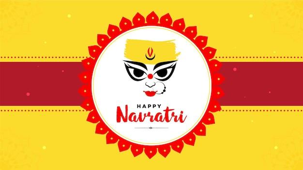 Indian festival happy navratri banner design template