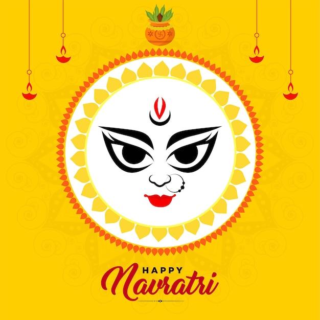 Indian festival happy navratri banner design