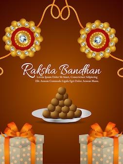 Indian festival happy rakhi celebration flyer with creative rakhi