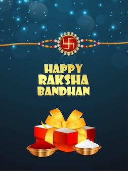 Indian festival happy raksha bandhan celebration background with vector illustration