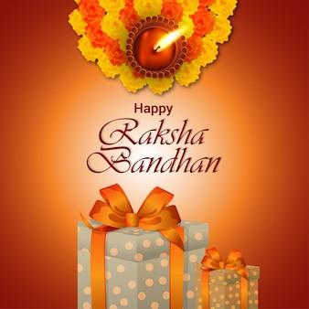 Indian festival of happy raksha bandhan celebration background