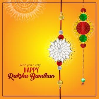 Indian festival happy raksha bandhan celebration background