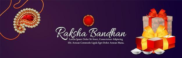 Indian festival happy raksha bandhan celebration banner