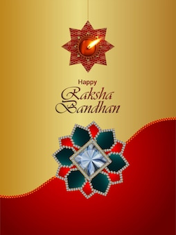 Indian festival happy raksha bandhan celebration flyer