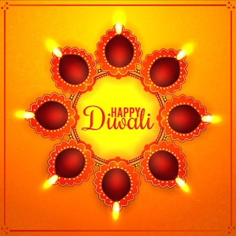 軽い幸せなディワリの背景のインドのお祭り