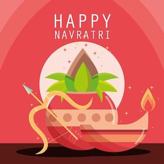 Индийский праздничный счастливый навратри