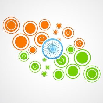 Indian flag design made of circles