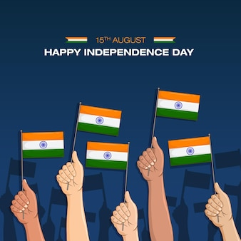 Indian flag happy independence day 15th august