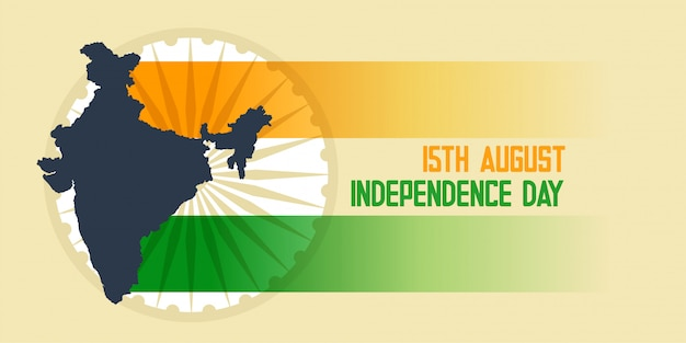 Indian flag and map independence day