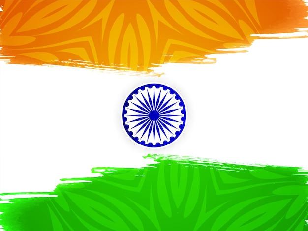 Индийский флаг тема день независимости акварель фон вектор