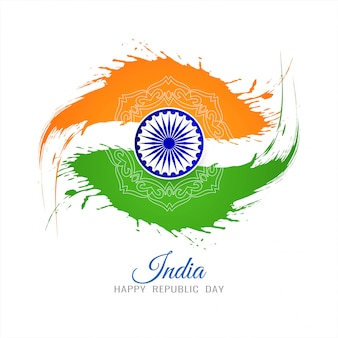 Indian flag theme republic day grunge background