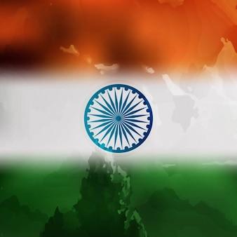 Indiano disegno bandiera tricolore