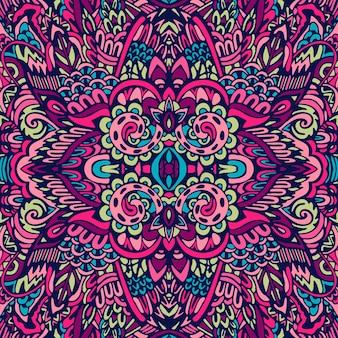 인도 꽃 페이즐리 메달 패턴. 민족 만다라 장식.