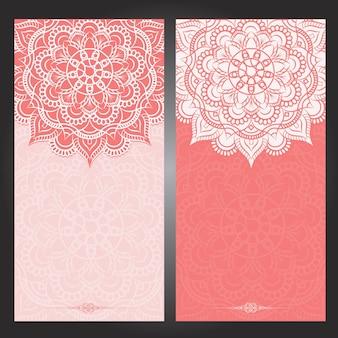 인도 꽃 페이즐리 메달리온 패턴
