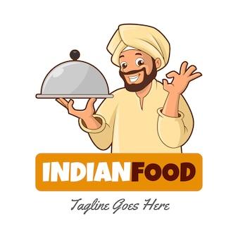 Шаблон логотипа индийской кухни