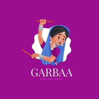 インドのgarbaaロゴデザインテンプレート