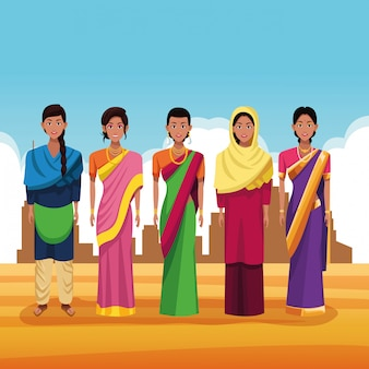 インド漫画のインドのグループ