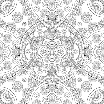 Indian hand drawn seamless background